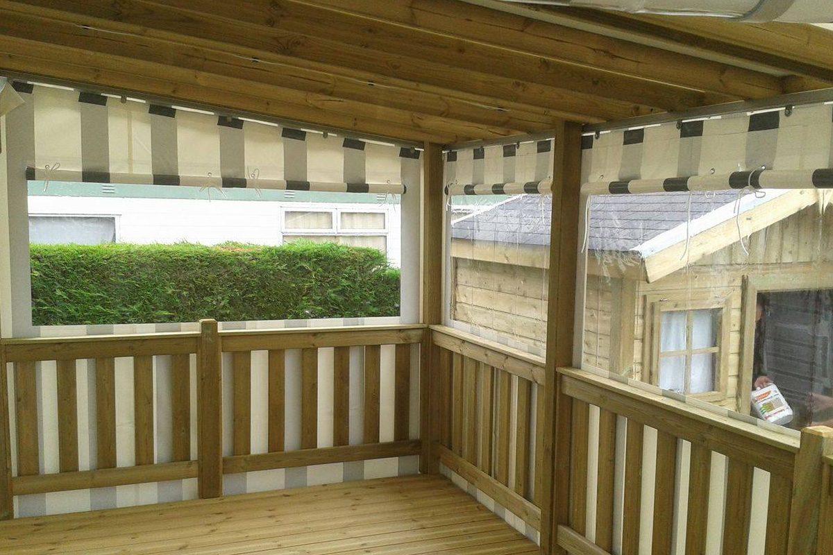 Terrasse Couverte Pour Mobil Home Bois Loisirs
