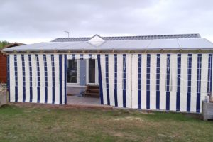 Terrasse couverte en Makrolon